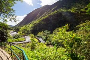 Beautiful tropical landscapes on Maui island, Hawaii