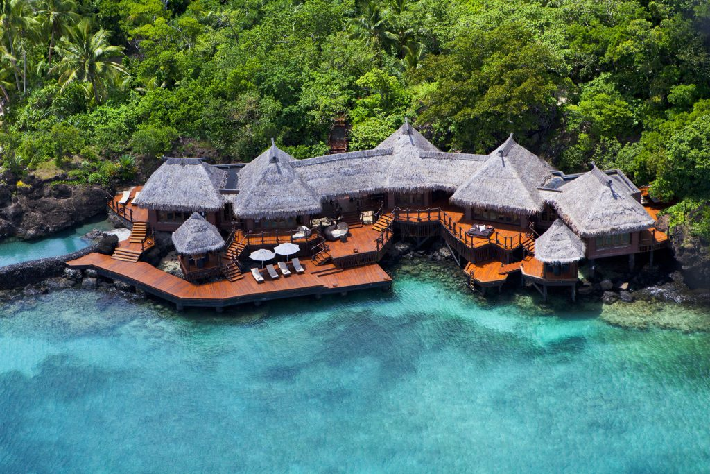 Over-water bungalows